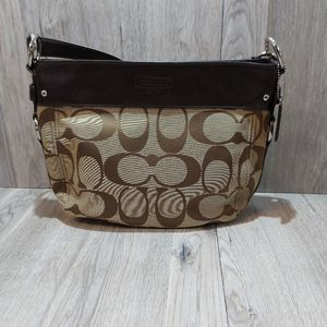 Womens Brown and Tan Coach Purse Excellent Cond.